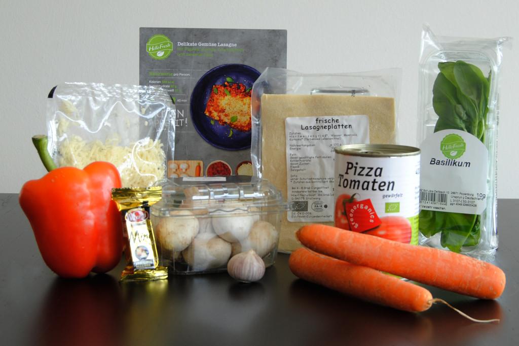 Delikate Gemüse Lasagne Zutaten HelloFresh
