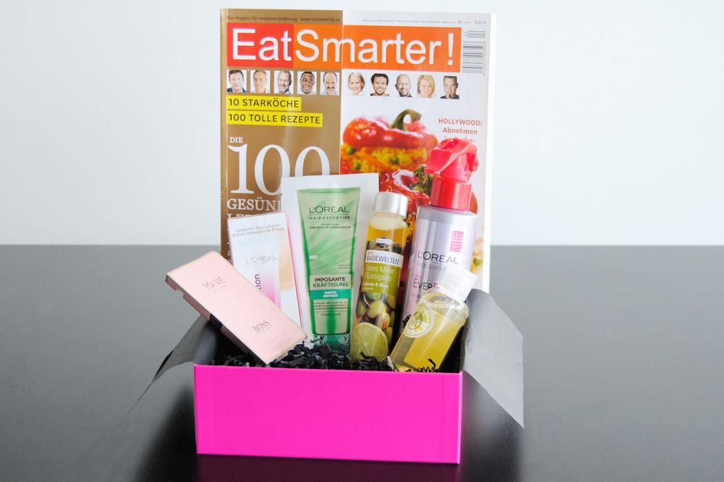 Pinkbox August 2014 Produktübersicht