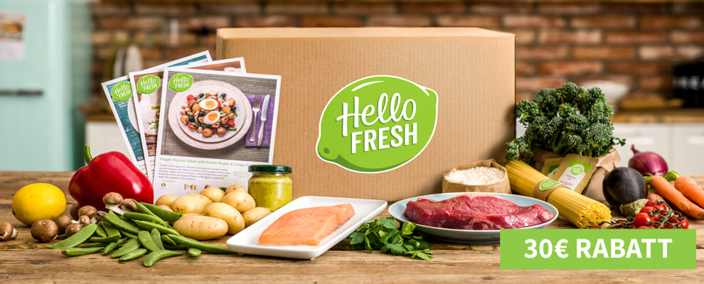 HelloFresh Classic Box - 30 Euro Rabatt